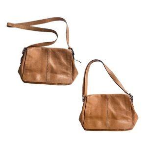 Coach Tan leather convertible crossbody bag